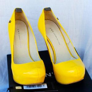 Costume National Platform Pumps Shoes Yellow 36 6
